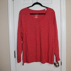 Sonoma Red Long Sleeve Shirt Size 1X